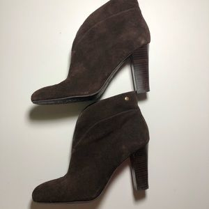 Franco Sarto Brown Suede Slip On Booties 7.5 M